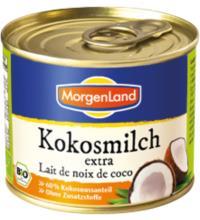 Morgenland Kokosmilch extra, 60%, 200 ml Dose - ohne Zusatzstoffe -