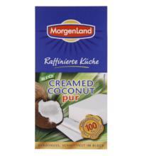 Morgenland Creamed Coconut pur, 100%, 200 gr Packung -schnittfest im Block-