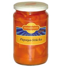 Morgenland Papaya-Stücke, 350 gr Glas (205 gr)