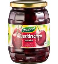 dennree Sauerkirschen, entsteint, 700 gr Glas  (320 gr)