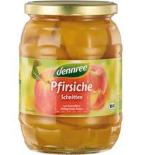dennree Pfirsiche, Schnitten, 685 gr Glas (385 gr)