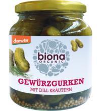Biona Dillgurken, 350 gr Glas