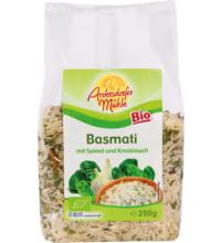 Antersdorfer Mühle Basmati m. Spinat u. Knoblauch, 250 gr Packung