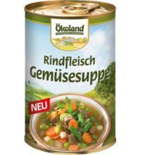 Ökoland Rindfleisch Gemüsesuppe,  -hefefrei- , 400 gr Dose