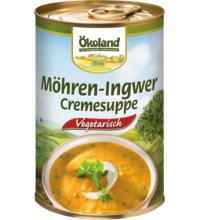 Ökoland Möhren-Ingwer Cremesuppe,  -hefefrei- , 400 gr Dose -vegetarisch-