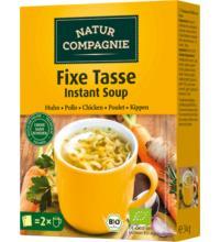 Natur Comp Fixe Tasse Huhn mit Nudeln,17gr, 2 Btl Packung für 2x0,4 ltr