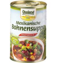 Ökoland Mexikanische Bohnensuppe vegetarisch, 400 gr Dose