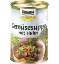 Ökoland Gemüsesuppe mit Huhn, 400 gr Dose