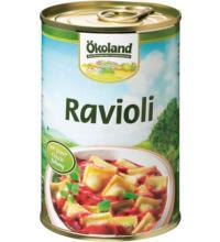 Ökoland Ravioli -hefefrei-, 400 gr Dose