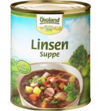 Ökoland Linsentopf -hefefrei-, 800 gr Dose