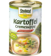Ökoland Kartoffel-Creme Suppe vegetarisch, 400 gr Dose