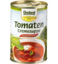 Ökoland Tomaten-Creme Suppe vegetarisch, 400 gr Dose