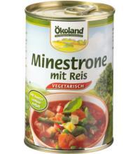 Ökoland Minestrone mit Reis vegetarisch, 400 gr Dose