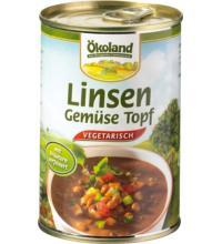 Ökoland Linsen-Gemüse-Topf vegetarisch, 400 gr Dose