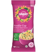 Davert Noodle-Cup Brokkoli-Käse-Sauce, 64 gr Packung