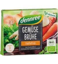 dennree Gemüsebrühwürfel, 60 gr Packung 6 Stck à 10 gr für 3 ltr -hefefrei-