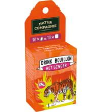 Natur Comp Drink Bouillon Hot Ginger, 10x5grl Packung für 10x 0,25 ltr