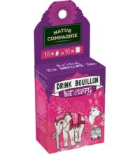 Natur Comp Drink Bouillon Hot Curry, 10x5grl Packung für 10x 0,25 ltr
