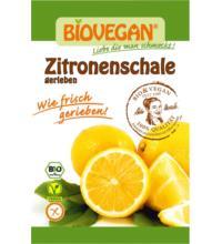 Biovegan geriebene Zitronenschale, 9 gr Beutel