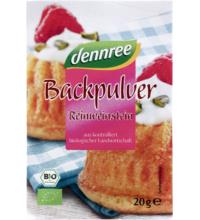 dennree Backpulver, 4 x20 gr, 80 gr Packung