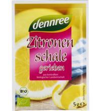 dennree geriebene Zitronenschale, 5 gr Packung