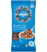 Davert Muesli-Cup Dunkle Schokolade, 55 gr Packung