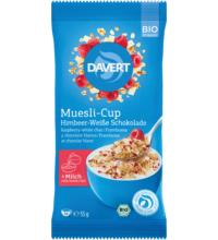 Davert Muesli-Cup Himbeer-Weiße Schokolade, 55 gr Packung