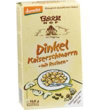 Bauck Hof Dinkel-Kaiserschmarrn, 160 gr Packungmit Rosinen