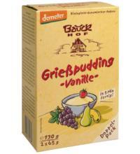 Bauck Hof Grießpudding Klassik mit Vanille, 130 gr Beutel
