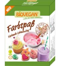 Biovegan Lebensmittelfarben Farbspaß, 5x 8 gr Packung
