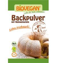 Biovegan Weinstein Backpulver, 4x17 gr Packung, 4 + 1 Saatgut Wintervorteilsaktion