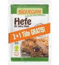 Biovegan Backhefe, 2+1 Wintervorteilsaktion, 3 x 9 gr Packung