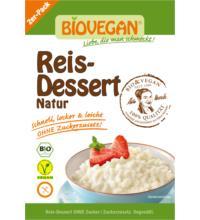 Biovegan Reis-Dessert Natur, 2x 54 gr Packung