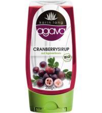 Karin Lang agava Cranberrysirup, 350 gr Flasche -auf Agavenbasis-