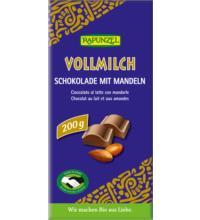 Rapunzel Vollmilch Mandel Schokolade HIH, 200 gr Stück