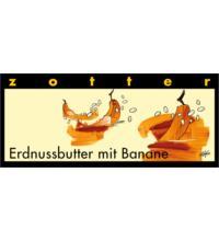 Zotter Erdnussbutter mit Banane Schokolade, 70 gr Stück