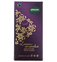 Naturata  Edelbitter Schokolade 100%, Lateinamerika, 80 gr Stück