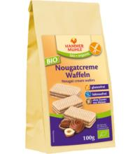 Hammermühle -glutenfrei- Waffeln mit Nougatcremefüllung, 100 gr Packung -glutenfrei-