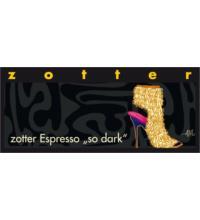 Zotter Espresso so dark, 70 gr Stück
