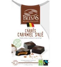 Belvas Carrés Caramel mit Salz, 100 gr Packung