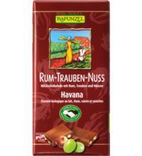 Rapunzel Rum-Trauben-Nuss Schokolade HIH, 100 gr Stück