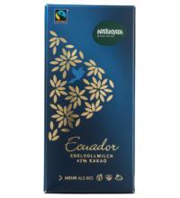 Naturata Edel-Vollmilch Schokolade 42%, Ecuador, 100 gr Stück