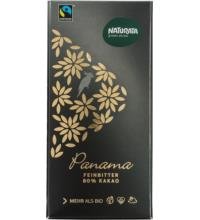 Naturata Edelbitter Schokolade 80%, Panama, 100 gr Stück