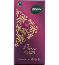 Naturata Edelbitter Schokolade 75%, Peru, 100 gr Stück