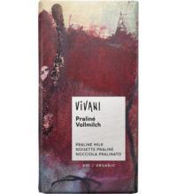 Vivani Praliné Nougat Schokolade, 100 gr Stück