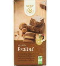 Gepa Premium Praliné Schokolade, 100 gr Stück