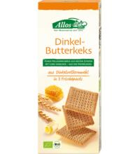Allos Dinkel-Butterkeks, 150 gr Packung