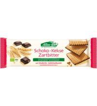 Allos Choco Kekse Zartbitter, feiner Keks mit Zartbitterboden,130 gr Packung