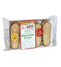 Werz Braunhirse-Zungen, 150 gr Packung -glutenfrei-