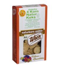 Werz 4-Korn-Vollkorn-Natur-Keks, 150 gr Packung -glutenfrei-